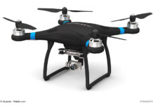 Quadcopter drone with 4K video and photo camera